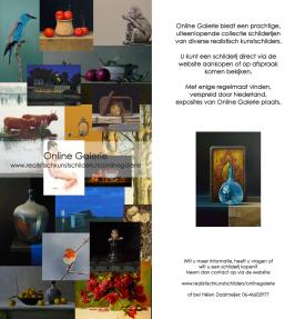 Online Galerie, Vlaardingen - voor- en achterzijde flyer