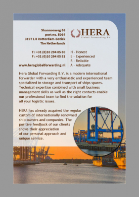 HERA Global Forwarding, Rotterdam - advertentietekst