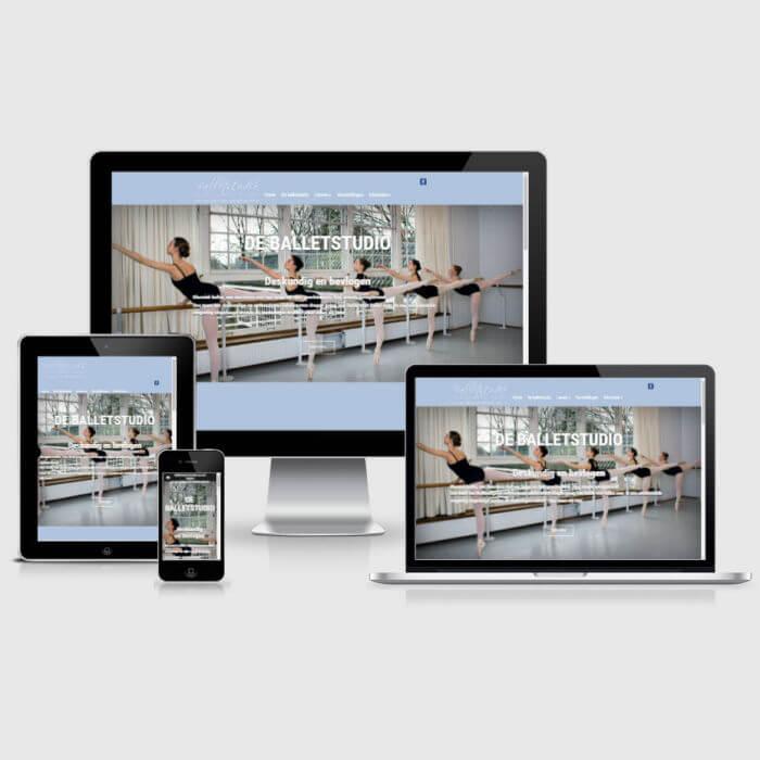 Balletstudio Marieke van der Heijden - WordPress website