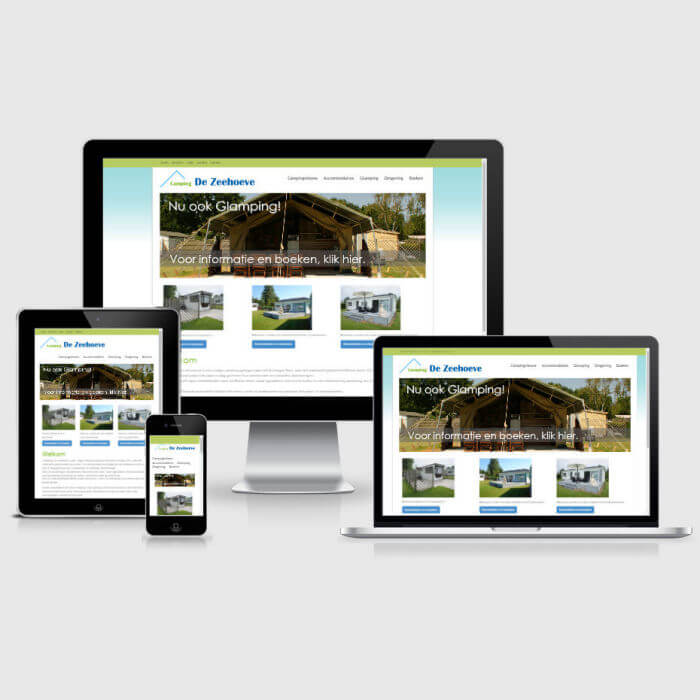 Camping De Zeehoeve - website in PHP en HTML