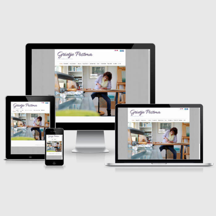 Grietje Postma - WordPress website