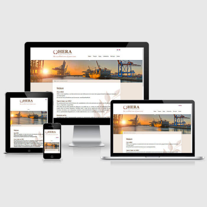 HERA Global Forwarding BV - WordPress website