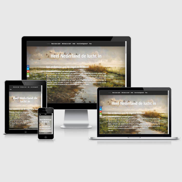 Hoogvliegersvanhetlaagland.nl - WordPress website