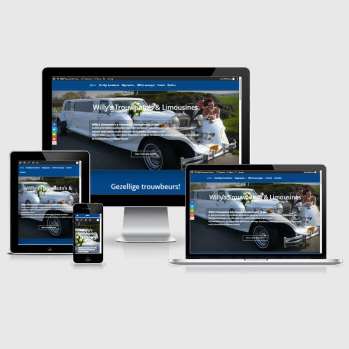 Willy's Trouwauto's & Limousines - WordPress website